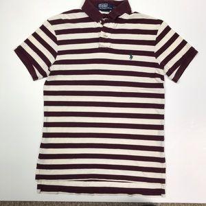 Polo by Ralph Lauren SS Shirt Cream/Maroon Striped